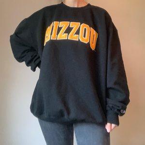 Comfy Black Mizzou Crewneck Sweatshirt